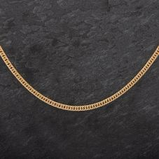 """Second Hand 9ct 24"""" Yellow Gold Close Curb Necklace"""