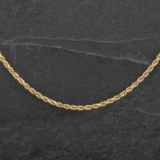 "Second Hand 14ct Yellow Gold 20"" Solid Rope Necklace"