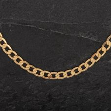 Second Hand 9ct Yellow Gold 20 Inch Flat Curb Chain 4103043