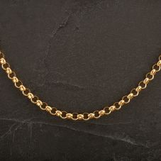"""Second Hand 9ct Yellow Gold 18"""" Belcher Necklace"""