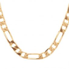 Second Hand 9ct Yellow Gold 24 Inch Figaro Chain Necklace