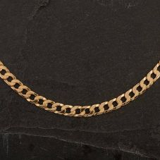 """Second Hand 9ct Yellow Gold 20"""" Curb Necklace"""