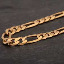 "Second Hand 9ct Yellow Gold 18"" Figaro Chain HGM40/01/11(08/19)"