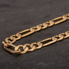 "Second Hand 9ct Yellow Gold 20"" 3+1 Figaro Chain HGM43/01/04(10/19)"