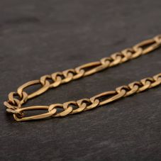 "Second Hand 9ct Yellow Gold 20"" 3+1 Figaro Chain HGM43/02/10(10/19)"