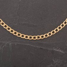 """Second Hand 9ct Yellow Gold 18"""" Hollow Curb Necklace (464)"""