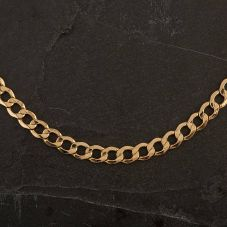 "Second Hand 9ct Yellow Gold 20"" Hollow Curb Necklace"