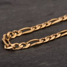 "Second Hand 9ct Yellow Gold 20"" 3+1 Figaro Chain HGM40/02/118(08/19)"