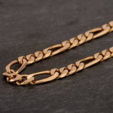 "Second Hand 9ct Yellow Gold 24"" Figaro Chain HGM40/01/10(08/19)"
