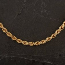 """Second Hand 9ct Yellow Gold 24"""" Hollow Rope Chain"""
