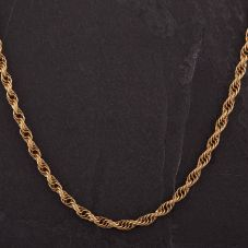 """Second Hand 9ct Yellow Gold 20"""" Triple Rope Necklace"""