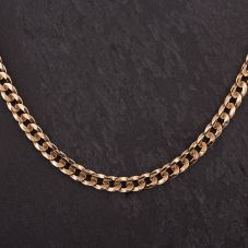 "Second Hand 9ct Yellow Gold 16"" Flat Curb Chain"