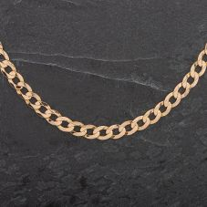 """Second Hand 9ct 20"""" Yellow Gold Flat Curb Necklace"""