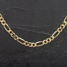 """Second Hand 9ct 20"""" Yellow Gold Figaro Necklace"""