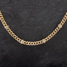 """Second Hand 9ct Two Colour Gold 26"""" Two Colour Gold Curb Necklace"""