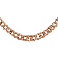 Second Hand 9ct Rose Gold 15 Inch Graduated Curb Chain