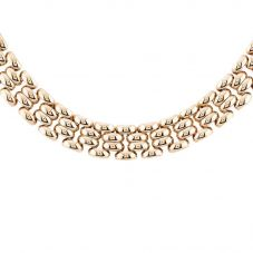 """Second Hand 9ct Yellow Gold 16"""" Brick Patterned Necklace D0511714(453)"""