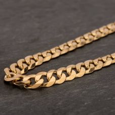 "Second Hand 9ct Yellow Gold 20"" Flat Curb Chain HGM40"