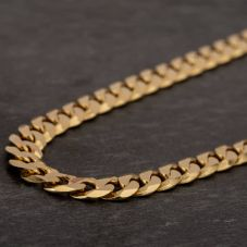 "Second Hand 9ct Yellow Gold 20"" Flat Curb Chain HGM40/04/05(08/19)"