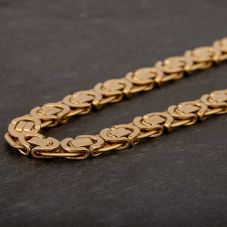 "Second Hand 9ct Yellow Gold 14"" Flat Byzantine Chain HGM41/01/8(09/19)"