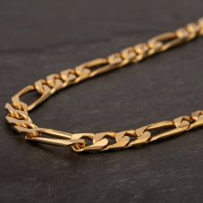 "Second Hand 9ct Yellow Gold 20"" Figaro Chain HGM41/01/11(09/19)"