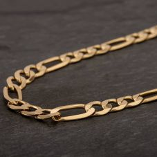 "Second Hand 9ct Yellow Gold 22"" 3+1 Figaro Chain HGM41/01/10(09/19)"