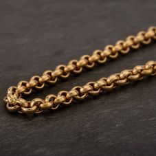 "Second Hand 9ct Yellow Gold 18"" Round Belcher Chain HGM42/03/05(09/19)"
