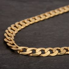 "Second Hand 9ct Yellow Gold 20"" Curb Chain HGM42/03/08(09/19)"