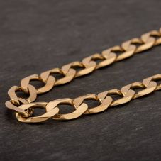 """Second Hand 9ct Yellow Gold 18"""" Curb Chain Necklace"""