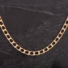 "Second Hand Gold 22"" Square Curb Necklace"