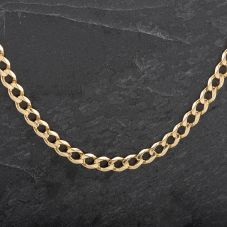 "Second Hand Gold 23"" Flat Curb Necklace"