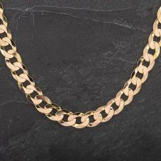 "Second Hand 9ct Yellow Gold 24"" Flat Curb Chain 4104253"