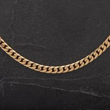 Second Hand Yellow Gold 18 inch Close Curb Chain 4104256