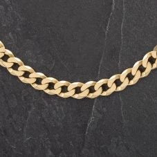 Second Hand 9ct Yellow Gold 18 inch Curb Chain 4104274