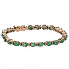 Second Hand Emerald and Diamond Bracelet