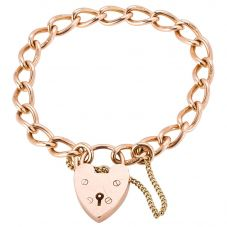 Second Hand 9ct Rose Gold Curb Chain Bracelet