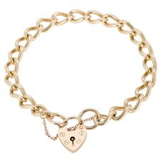 Second Hand 9ct Yellow Gold Curb Chain Bracelet