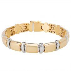 Second Hand 18ct Two Colour Gold Bracelet