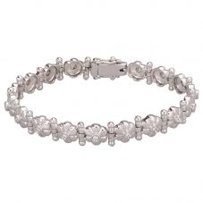 Second Hand 0.50ct 7.5 Inch Daisy Bar Bracelet