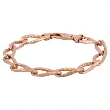 Second Hand 9ct Yellow Gold 7 Inch Fancy Curb Chain Bracelet