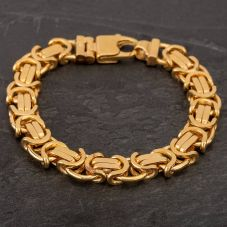 Second Hand 9ct Yellow Gold Flat Byzantine Chain Bracelet