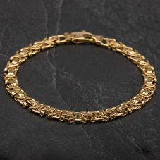 Second Hand 18ct Yellow Gold 8 Inch Fancy Chain Bracelet 4107810