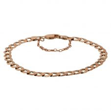 "Second Hand 9ct Yellow Gold 8"" Hollow Flat Curb Chain Bracelet"
