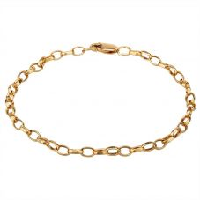 "Second Hand 9ct Yellow Gold 8"" Belcher Chain Bracelet"