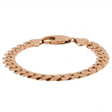 "Second Hand 9ct Yellow Gold 9"" Heavy Curb Chain Bracelet"