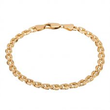 Second Hand 9ct Yellow Gold 8.5 Inch Fancy Curb Bracelet