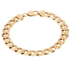 "Second Hand 9ct Yellow Gold 8"" Curb Chain Bracelet F606081(454)"