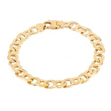 "Second Hand 9ct Yellow Gold 8.5"" Figure 8 Curb Chain Bracelet HGM31/02/02(05/19)"