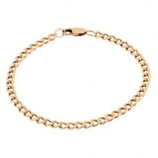 "Second Hand 9ct Yellow Gold 8"" Curb Chain Bracelet HGM31/01/03(05/19)"