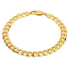 "Second Hand 9ct Yellow Gold 8"" Curb Chain Bracelet HGM33/01/03(06/19)"